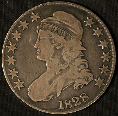 1828 United States Capped Bust 50c Half Dollar - Free Shipping USA