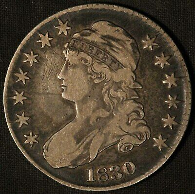 1830 United States Capped Bust 50c Half Dollar - Free Shipping USA