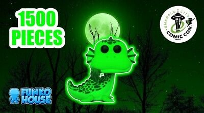 Funko Pop 2020 ECCC OFFICIAL STICKER Myths Loch Ness Monster LE1500 GLO PREORDER