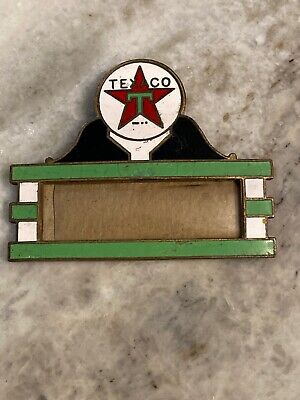 VINTAGE TEXACO MOTOR OIL GAS SERVICE STATION ATTENDANTS NAME BADGE Art Deco