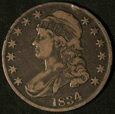 1834 United States Capped Bust 50c Half Dollar - Free Shipping USA