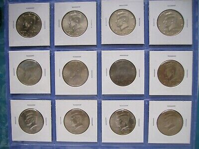 2004 2005 2006  2007 P D  Kennedy Half Dollar Uncirculated Set from Mint Rolls