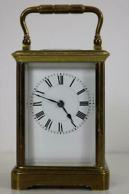 HENRY JACOT CARRIAGE CLOCK timepiece circa 1900 GOOD ORIGINAL CONDITION working