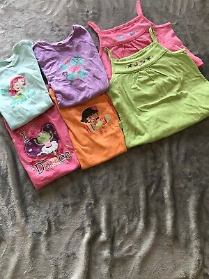 Girls Size 6 Summer Shirts Jumping Beans Lot Of 6 Really Cute