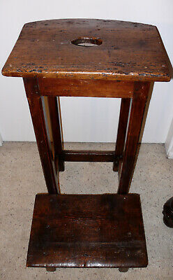 Antique Prayer Stool In Pine * Circa 1850 * France