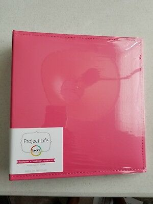 "Becky Higgins Project Life Pink Raspberry 6""x 8"" Printed Photo Binder Album"