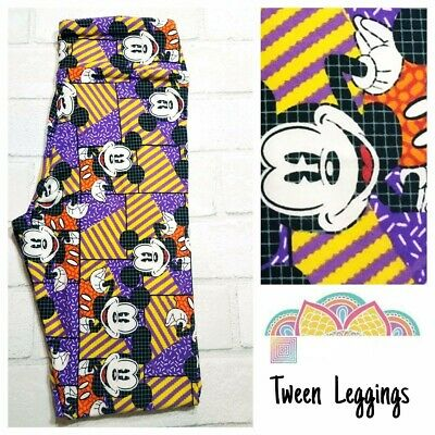 BNWT Lularoe Disney Kids Tween leggings Mickey Mouse