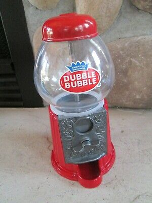 Gumball Machine Vintage  Double Bubble Gum Globe  Plastic Candy Bank Nuts Coins