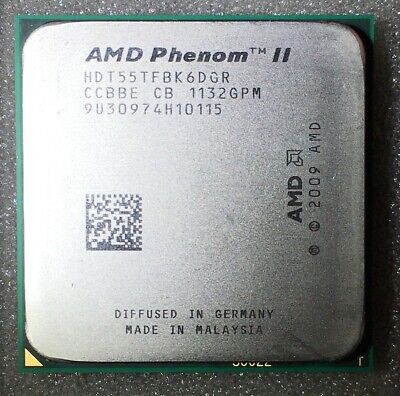 AMD Phenom II X6 1055T 2.8 GHz+heat sink,CPU Processor AM3 Socket HDT55TFBK6DGR