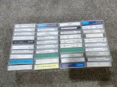 Lot of 40 used DAT tapes Sony Maxell with recordings sold as blanks