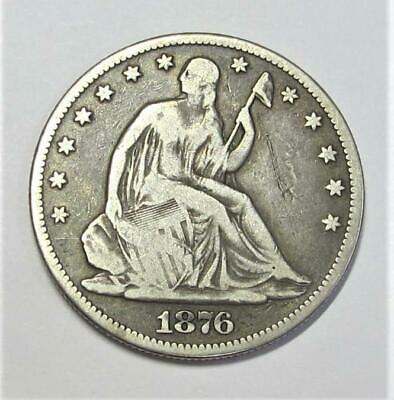 1876-CC U.S. Half Dollar *Seated Liberty* Circulated * Nicely Toned * 90% Silver