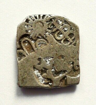 Mauryan empire, India, AR punchmarked karshapana (drachm) [silver, 322-185 BC]