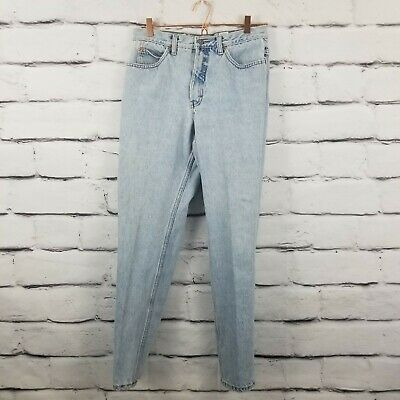 Calvin Klein Womens Size 12 Vintage High Rise Light Wash Mom Jeans Made in USA