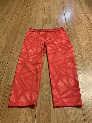 Girls Under Armour Heat Gear Novelty Capri Base Layer Pants Size Youth S/M