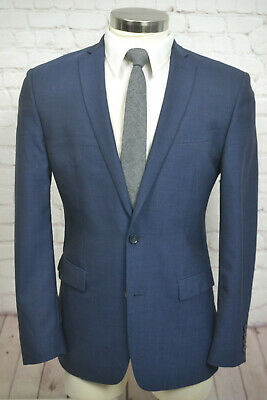 Bar III Mens Blue MOD 2 Button SLIM FIT Wool Sport Coat Blazer Jacket SIZE 40R
