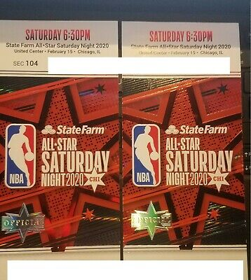 NBA SLAM DUNK CONTEST 2/15/2020 all star saturday night ticket stub near mint