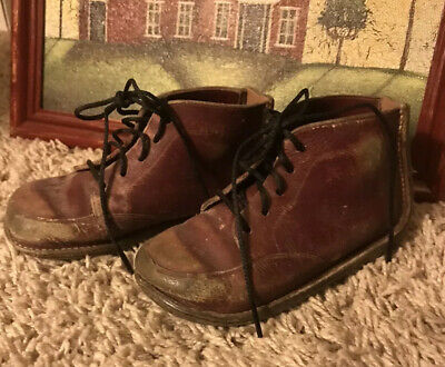 Vintage Old Leather Baby Shoes