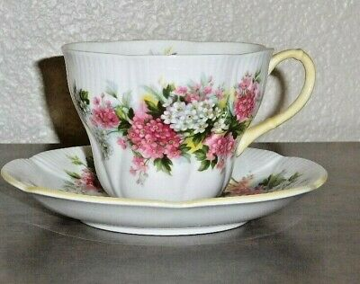 "Royal Albert Bone China Tea Cup and Saucer ""Blossom Time"" Series"