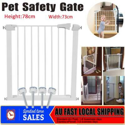Child Baby Safety Security Handle Pressure Mounted Baby Gate Pet Stair Barrier
