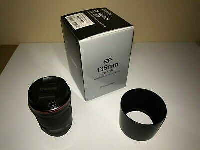 Canon EF 135mm f/2L USM Lens with 010 Filter - Excellent Condition