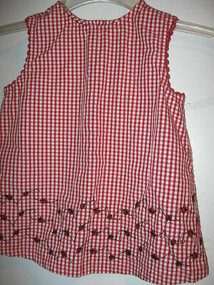 preowned GIRLS size 4 LADYBUG DRESS red & white SO CUTE