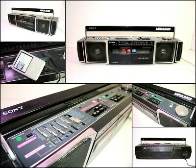 SONY CFS-DW60 Mega Bass Radio Cassette Recorder Boombox with AC Power Cord