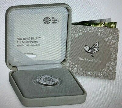 Royal Mint 2018 Royal Baby Silver Penny Brilliant Uncirculated Limited Edition.