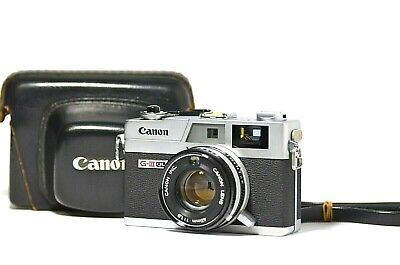 [N MINT] Canon Canonet QL19 G-III Rangefinder 45mm f/1.9 w/ Case from Japan