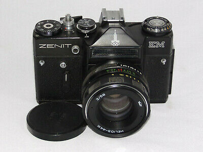 Zenit EM black with Olympic Logo with lens and case