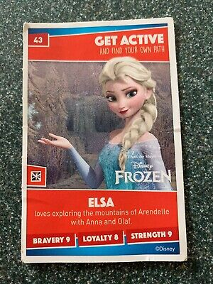 Sainsburys Disney Heroes 2019 Card Number 43 Elsa