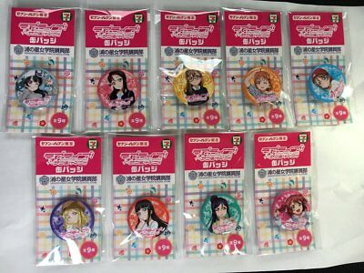 Pin Tin Badge Sunshine! Love Live Clear File Seven Eleven Not for sale 9 set