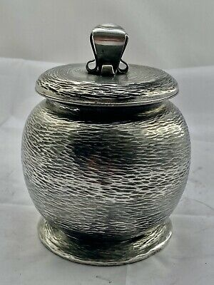 rare Liberty & Co tudric art nouveau pewter biscuit barrel Archibald Knox 01070