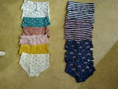 Girls Age 3-4(-5) Years Marks & Spencer Cotton Shorts Knickers Pants M&S