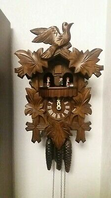 Hubert Herr Black Forest cuckoo clock for spares or repairs all working