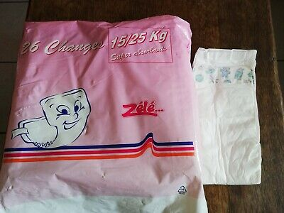1 X Couche Vintage ABDL Diapers plastic ( No Pampers ) Zele