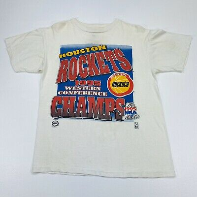 Vintage NBA Houston Rockets World Champions 1995 T Shirt Large