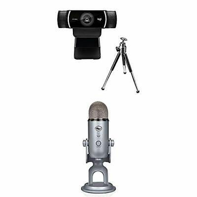 Logitech C922 Pro Stream Webcam, Full HD 1080p Streaming with Tripod and Free 3-