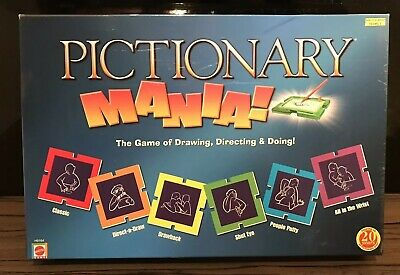 PICTIONARY - Mania Board Game - Family Christmas Game - 100% Complete - Free P&P