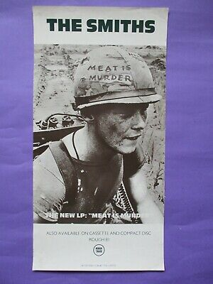 """The SMITHS Meat Is Murder ORIGINAL 1985 UK PROMO POSTER 24x12"""""""