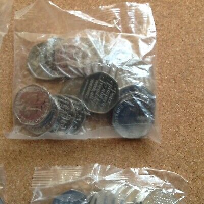 2020 50p Brexit Coin Full Sealed Bag (of 20) Coins.