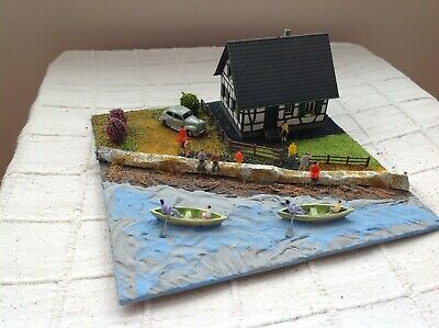 OO gauge diorama of a coastal / river scene. Scratch built. Suit railway/ Hornby