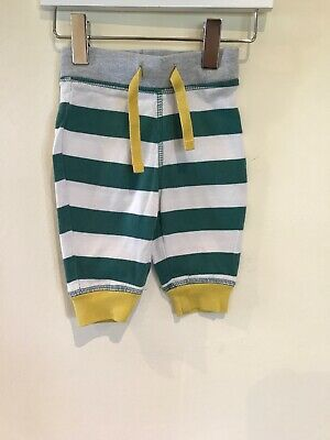 Mini Boden Baby Boys Lovely Green / White Striped Trousers Age 0-3 Months VGC