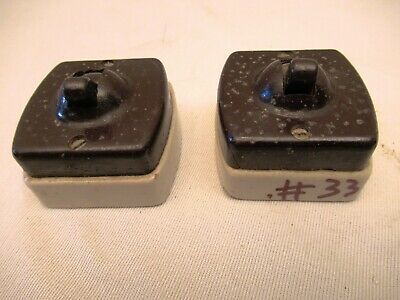 Vintage Electric Switches Bakelite & Porcelain Black Color By Bajaj 250 V 5Am*33