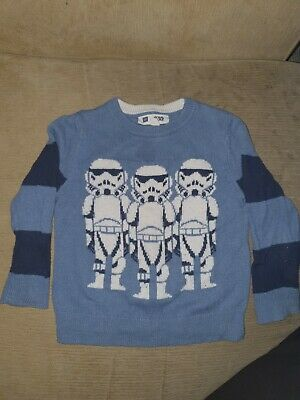 Gap Blue Star Wars Jumper 3yrs near perfect condition and clean