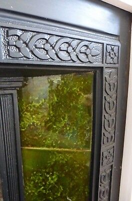 Arts&Crafts Aesthetic cast iron grate,fireplace YATES Haywood Co Sherwin tiles