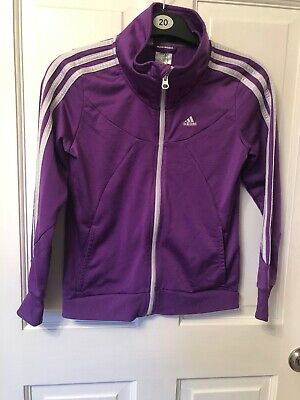 Adidas Girls Purple Tracksuit Jacket Age 11/12 Yesrs