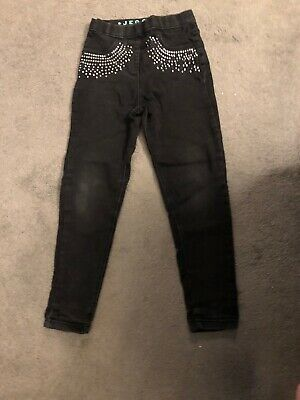 Girls Black Jeggings Size 7 -8 Years No Reserve