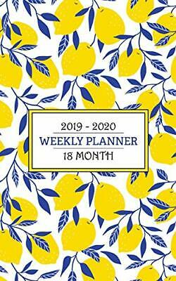 2019 - 2020 Weekly Planner - 18 Months: A fresh palette of a bright yellow blue