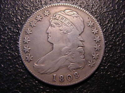 1808 Capped Bust Half Dollar Vf +