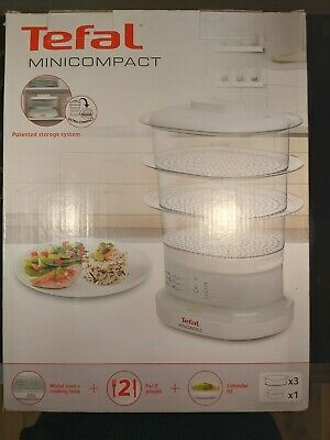 Tefal Minicompact Electric Food Steamer - Used Once - Good Working Order